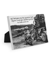 Thank you dad - Biker Easel-Back Gallery Wrapped Canvas tile