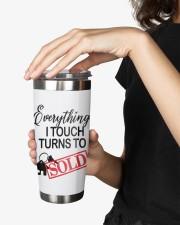 Everything i touch turn to sold 20oz Tumbler aos-20oz-tumbler-lifestyle-front-25