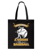 Woman who loves baseball Tote Bag thumbnail