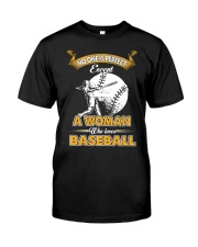 Woman who loves baseball Classic T-Shirt thumbnail