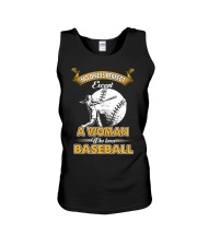 Woman who loves baseball Unisex Tank thumbnail