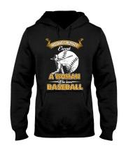 Woman who loves baseball Hooded Sweatshirt thumbnail