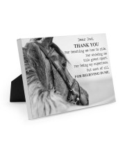 Thank you dad 10x8 Easel-Back Gallery Wrapped Canvas thumbnail
