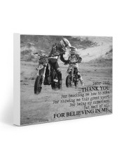 Thank you dad - Biker Dad 20x16 Gallery Wrapped Canvas Prints front