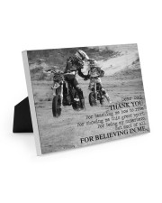 Thank you dad - Biker Dad 10x8 Easel-Back Gallery Wrapped Canvas thumbnail