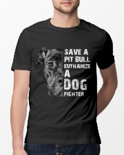 Save A Pit Bull - Style 1 Classic T-Shirt lifestyle-mens-crewneck-front-13