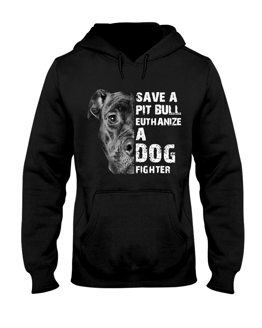 Save A Pit Bull - Style 1 Hooded Sweatshirt