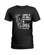Save A Pit Bull - Style 1 Ladies T-Shirt thumbnail