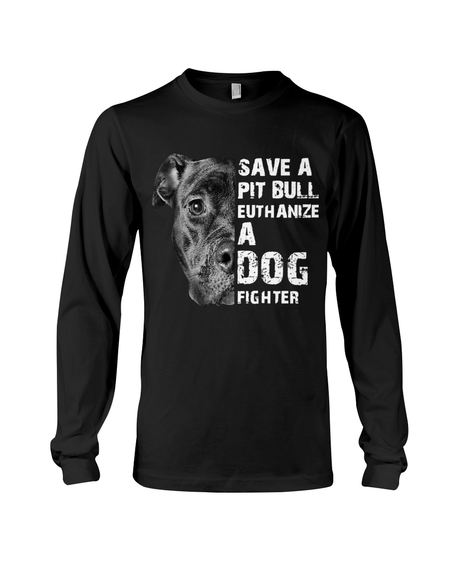 Save A Pit Bull - Style 1 Long Sleeve Tee