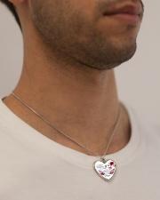 Best Version 140120 Metallic Heart Necklace aos-necklace-heart-metallic-lifestyle-2