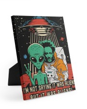 I'm not saying it was aliens canvas prints Easel-Back Gallery Wrapped Canvas tile