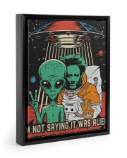 I'm not saying it was aliens canvas prints Floating Framed Canvas Prints Black tile