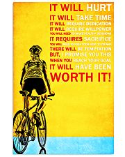 Bicycle it will hurt it will take time poster Vertical Poster tile