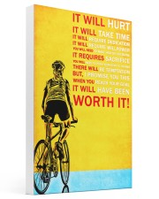 Bicycle it will hurt it will take time poster 16x24 Gallery Wrapped Canvas Prints thumbnail