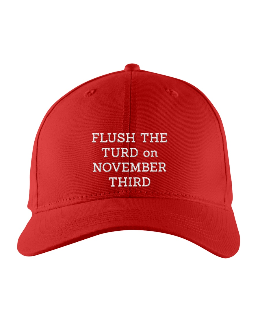 Flush the turd on noverber atlashirts 2 Embroidered Hat