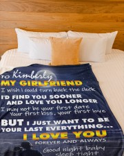 """CUSTOM NAME - Special Gift To Your Girlfriend Large Fleece Blanket - 60"""" x 80"""" aos-coral-fleece-blanket-60x80-lifestyle-front-02a"""