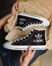 TCH11AF01 FLEMING Men's High Top White Shoes aos-complex-men-white-top-shoes-lifestyle-11