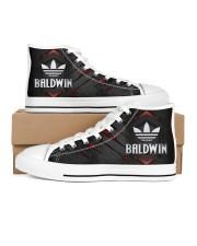 TCH11AF01 BALDWIN Men's High Top White Shoes inside-left-outside-left