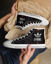 TCH11AF01 EVANS Men's High Top White Shoes aos-complex-men-white-top-shoes-lifestyle-11