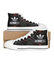 TCH11AF01 BENNETT Men's High Top White Shoes inside-right-outside-right