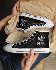 TCH11AF01 DANIEL Men's High Top White Shoes aos-complex-men-white-top-shoes-lifestyle-11