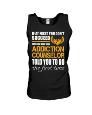 STICKER ADDICTION COUNSELOR Unisex Tank tile