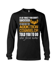 STICKER ADDICTION COUNSELOR Long Sleeve Tee thumbnail