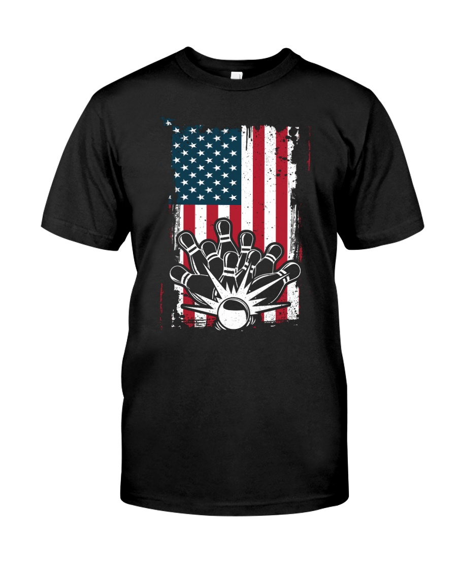 Bowling T-Shirts American Flag Special Gift  Classic T-Shirt