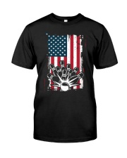 Bowling T-Shirts American Flag Special Gift  Classic T-Shirt front