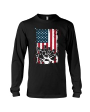 Bowling T-Shirts American Flag Special Gift  Long Sleeve Tee thumbnail