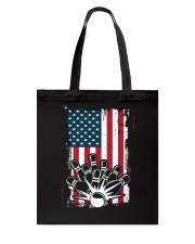 Bowling T-Shirts American Flag Special Gift  Tote Bag thumbnail