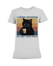 I Drink Bourbon Premium Fit Ladies Tee thumbnail