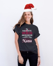 MY FAVORITE WORDS Classic T-Shirt lifestyle-holiday-crewneck-front-1