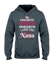 MY FAVORITE WORDS Hooded Sweatshirt thumbnail