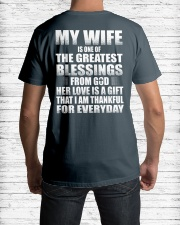 MY WIFE Classic T-Shirt lifestyle-mens-crewneck-back-1