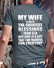 MY WIFE Classic T-Shirt lifestyle-mens-crewneck-back-2