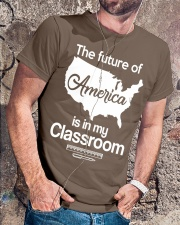 THE FUTURE OF AMERICA Classic T-Shirt lifestyle-mens-crewneck-front-4