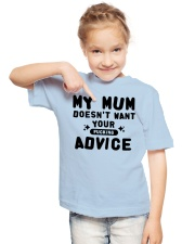 MY MUM - YOUR ADVICE Youth T-Shirt lifestyle-youth-tshirt-front-2