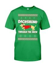 DACHSHUND THROUGH THE SNOW Classic T-Shirt thumbnail