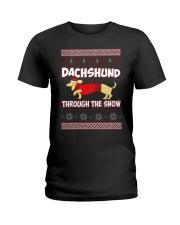 DACHSHUND THROUGH THE SNOW Ladies T-Shirt front