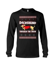 DACHSHUND THROUGH THE SNOW Long Sleeve Tee thumbnail