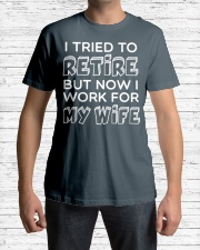 WORK FOR MY WIFE Classic T-Shirt lifestyle-mens-crewneck-front-1