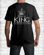 ONLY A KING CAN ATTRACT A QUEEN Classic T-Shirt lifestyle-mens-crewneck-back-1