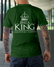 ONLY A KING CAN ATTRACT A QUEEN Classic T-Shirt lifestyle-mens-crewneck-back-3