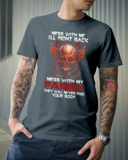 MESS WITH MY FAMILY Classic T-Shirt lifestyle-mens-crewneck-front-6