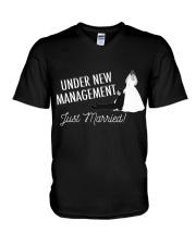 JUST MARRIED V-Neck T-Shirt thumbnail