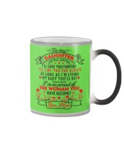 TO MY DAUGHTER - LOVE MOM  Color Changing Mug color-changing-right