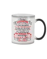 TO MY DAUGHTER - LOVE MOM  Color Changing Mug thumbnail