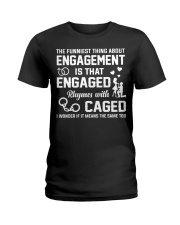 ENGAGED - CAGED Ladies T-Shirt thumbnail