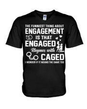 ENGAGED - CAGED V-Neck T-Shirt thumbnail